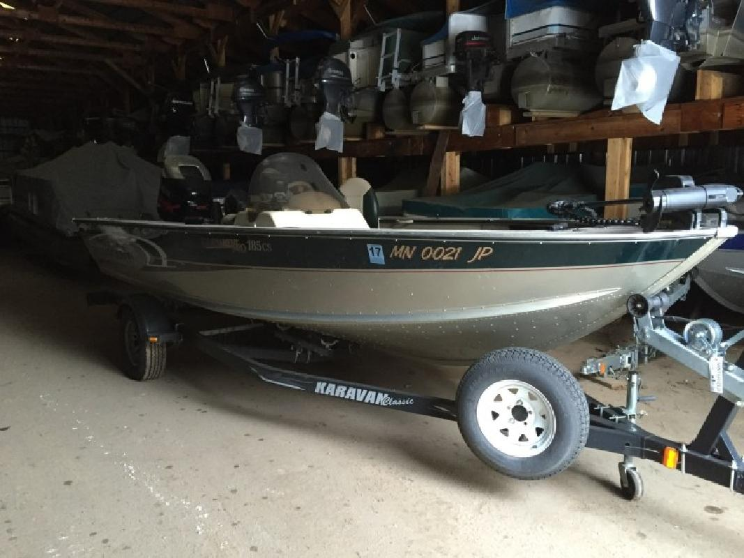 2003 alumacraft tournament pro 185 cs deerwood mn for sale for Fishing boats for sale mn