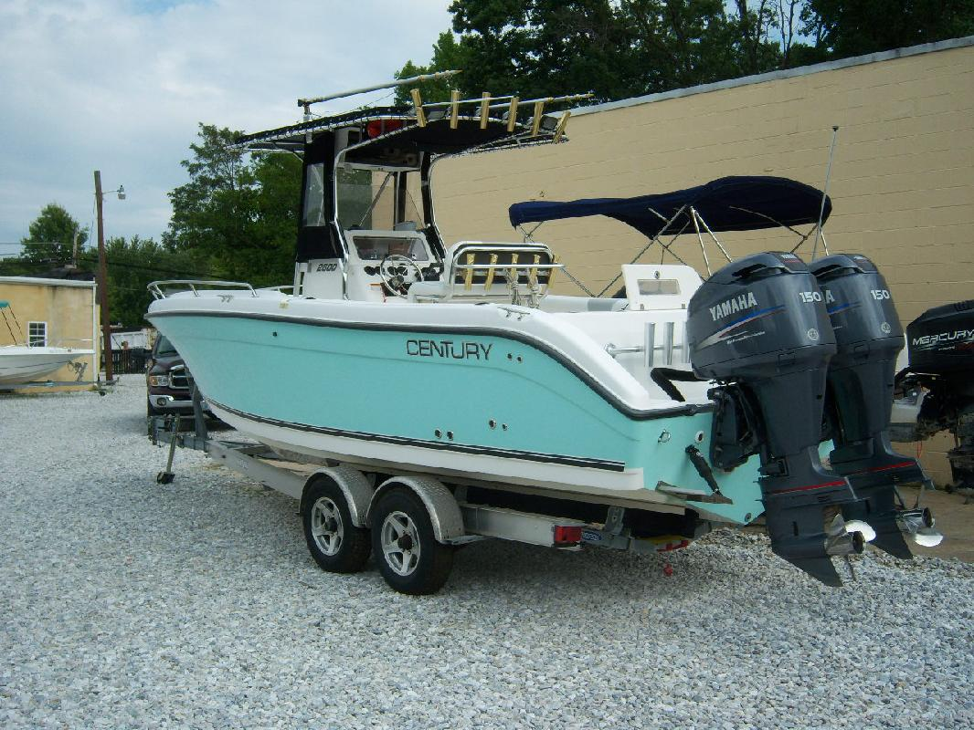 2004 26 39 century boats 2600 center console for sale in for Century motor date code