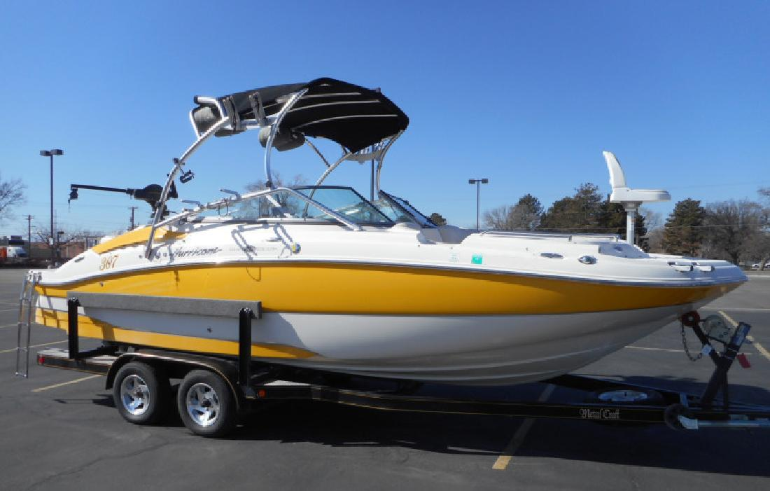2008 24 Hurricane Sun Deck 2400 Deck Boat in 3600 S Main St. In Salt Lake City, UT