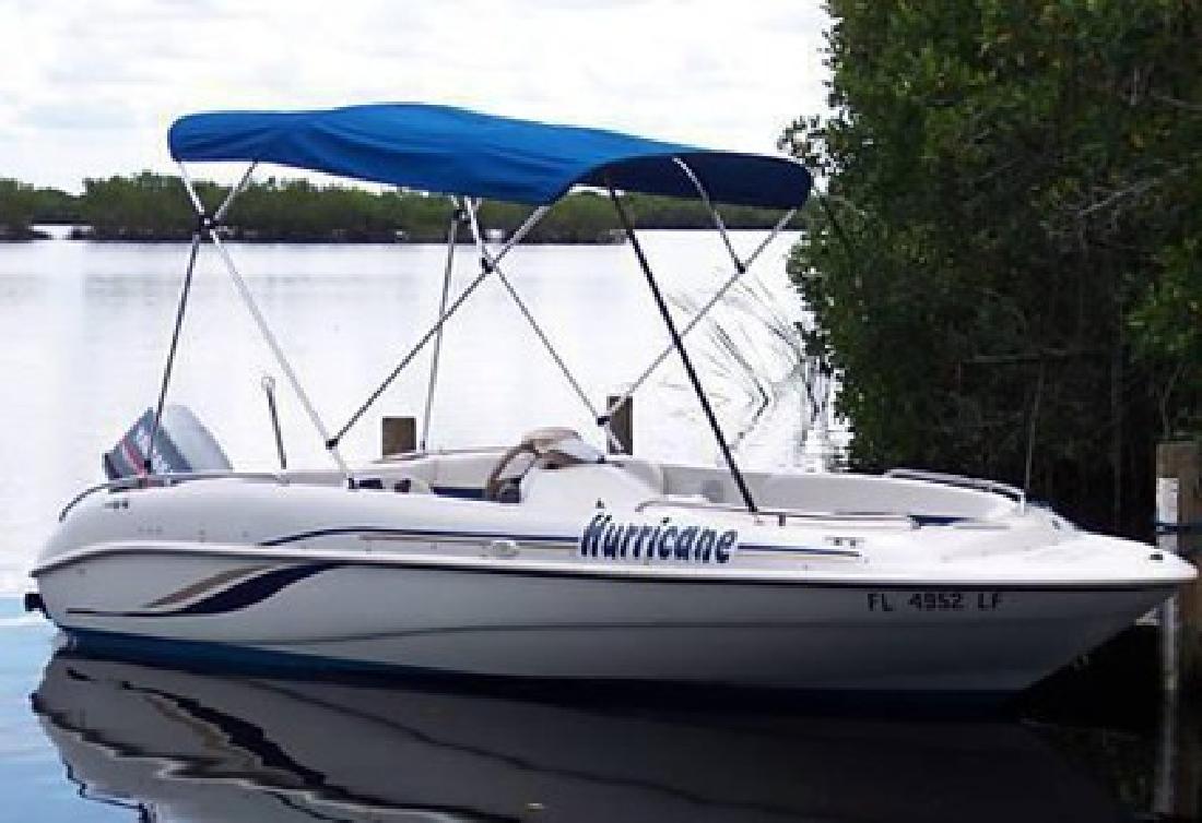 $3,455 OBO 2000 Godfrey Hurricane Deck Boat 90 Hp Yamaha & Trailer