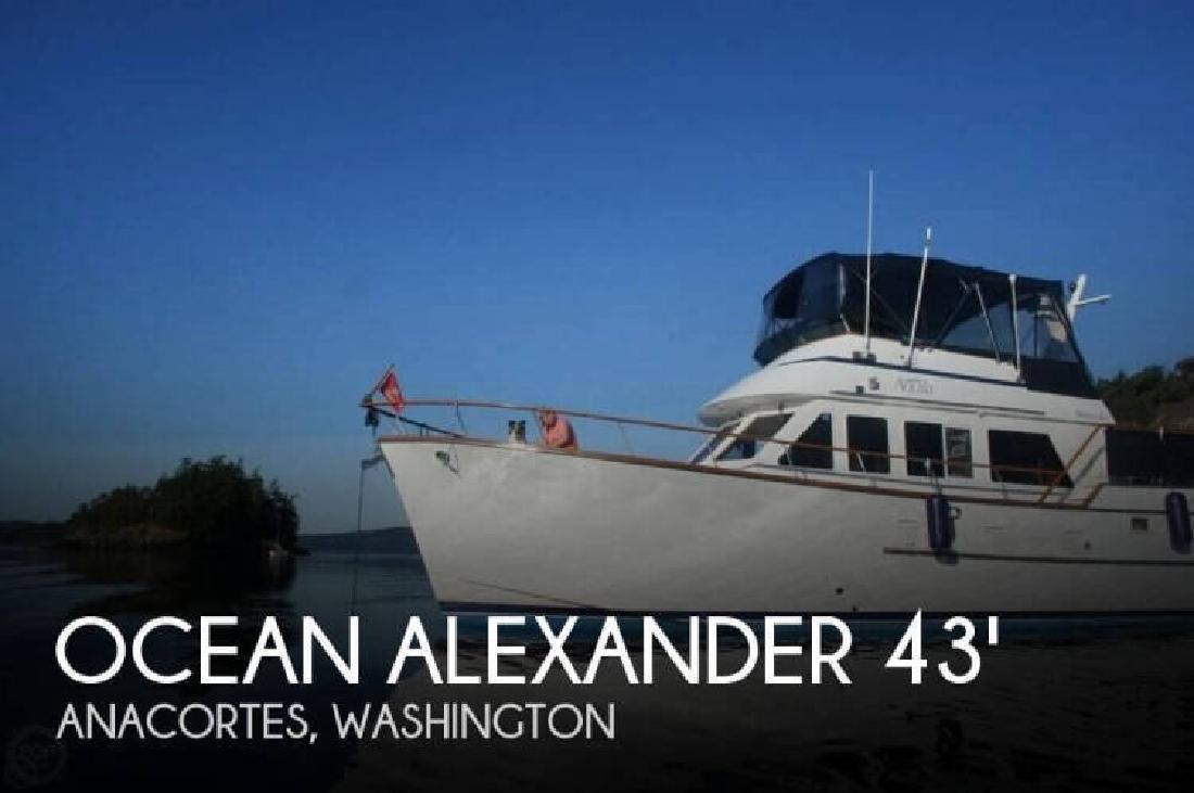 1983 Ocean Alexander 43 Flush Aft Deck Anacortes WA