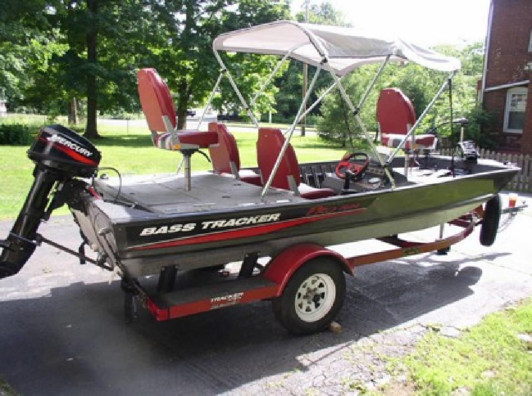 $2,100 1987 Bass Tracker Fishing Machine With All The Bells And Whistles