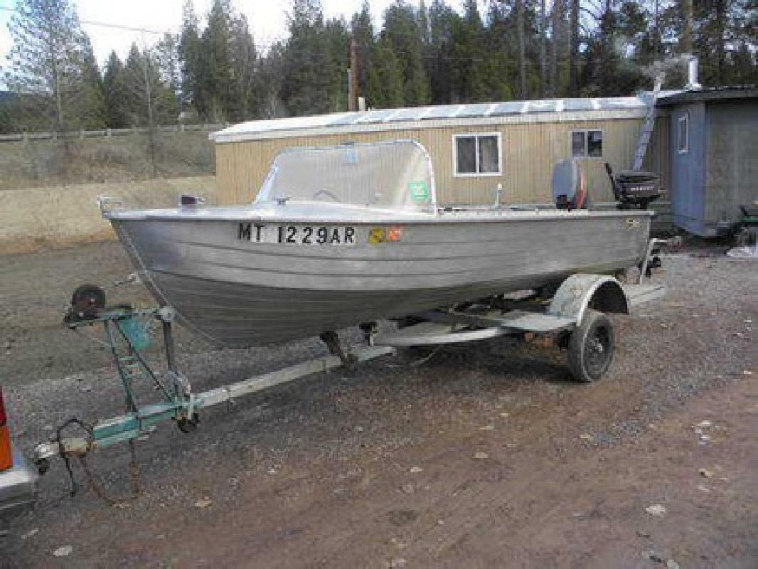 Duck boat for sale aluminum fishing boat for sale montana for Aluminum craft boats for sale