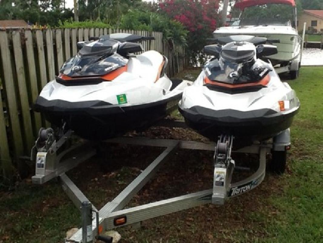 $5,750 (Pair) 2012 Sea Doo GTI 130 With Aluminum Triton Trailer, Under Factory Warrant