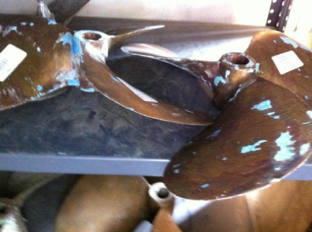 $330 Pair of 28 Bertram Bronze Props