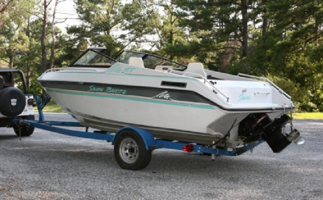 $1,500 1992 Sylvan Barritz 188 Boat and trailer