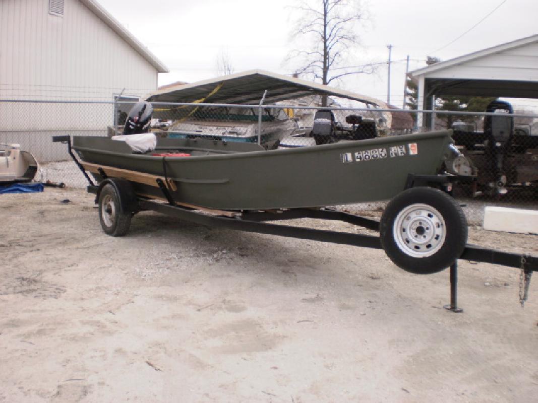 1996 AAD Custom Monobow Plate Boat in Beardstown, IL