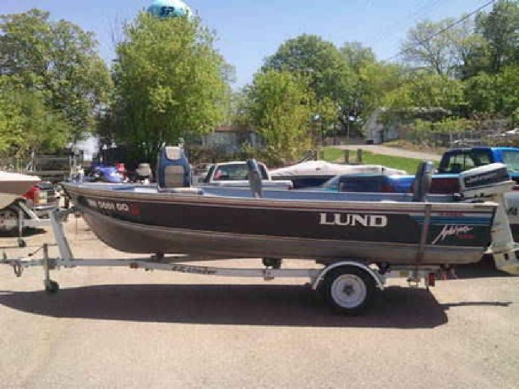 3 495 1994 lund 16 39 aluminum fishing boat w 25 hp for Fishing boats for sale mn