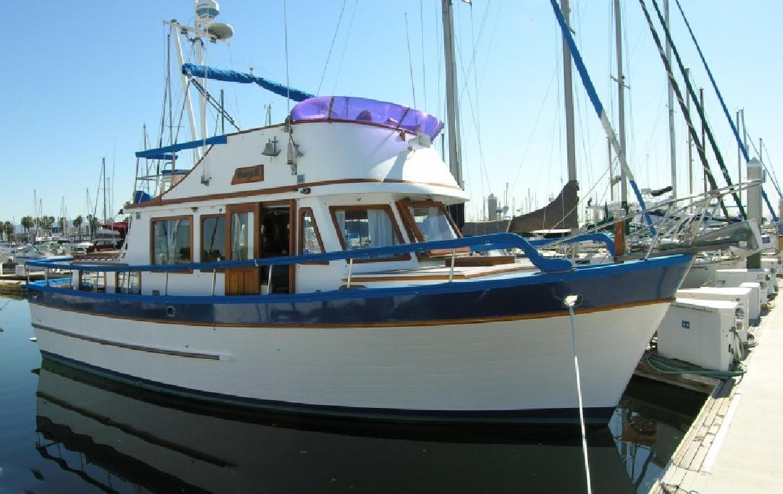 1979 37 39 c l boat works aft cabin trawler for sale in for Fishing boats for sale san diego
