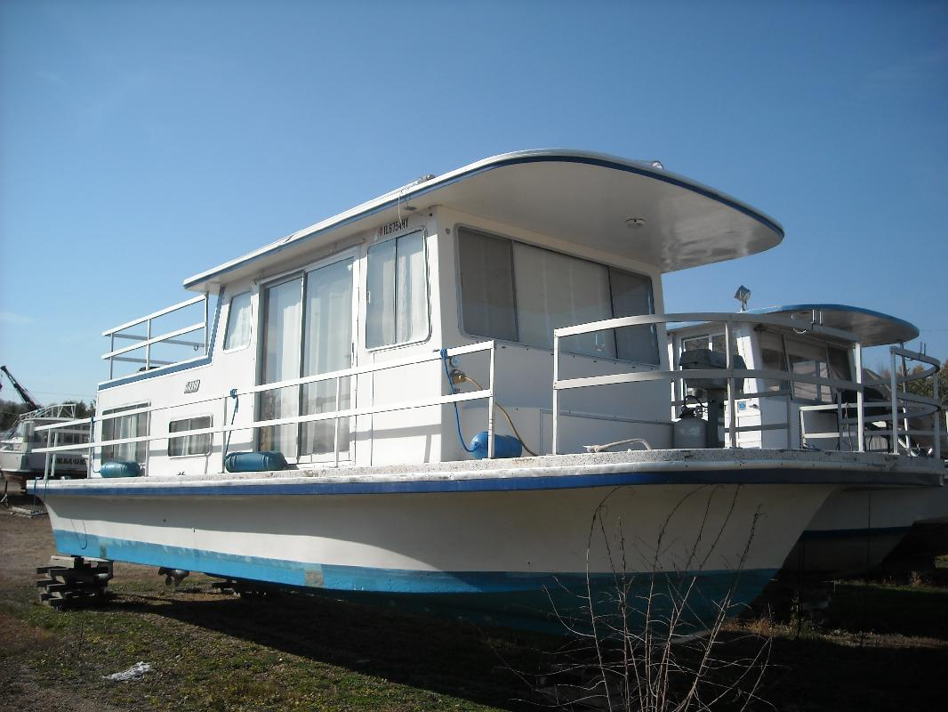 1981 36 39 gibson boats houseboat for sale in sabula iowa for Cost to build a house in iowa