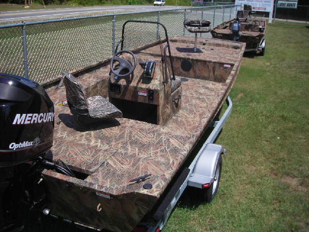 2011 20 Lowe Boats Roughneck 2065 Cc Camo With 90hp Merc