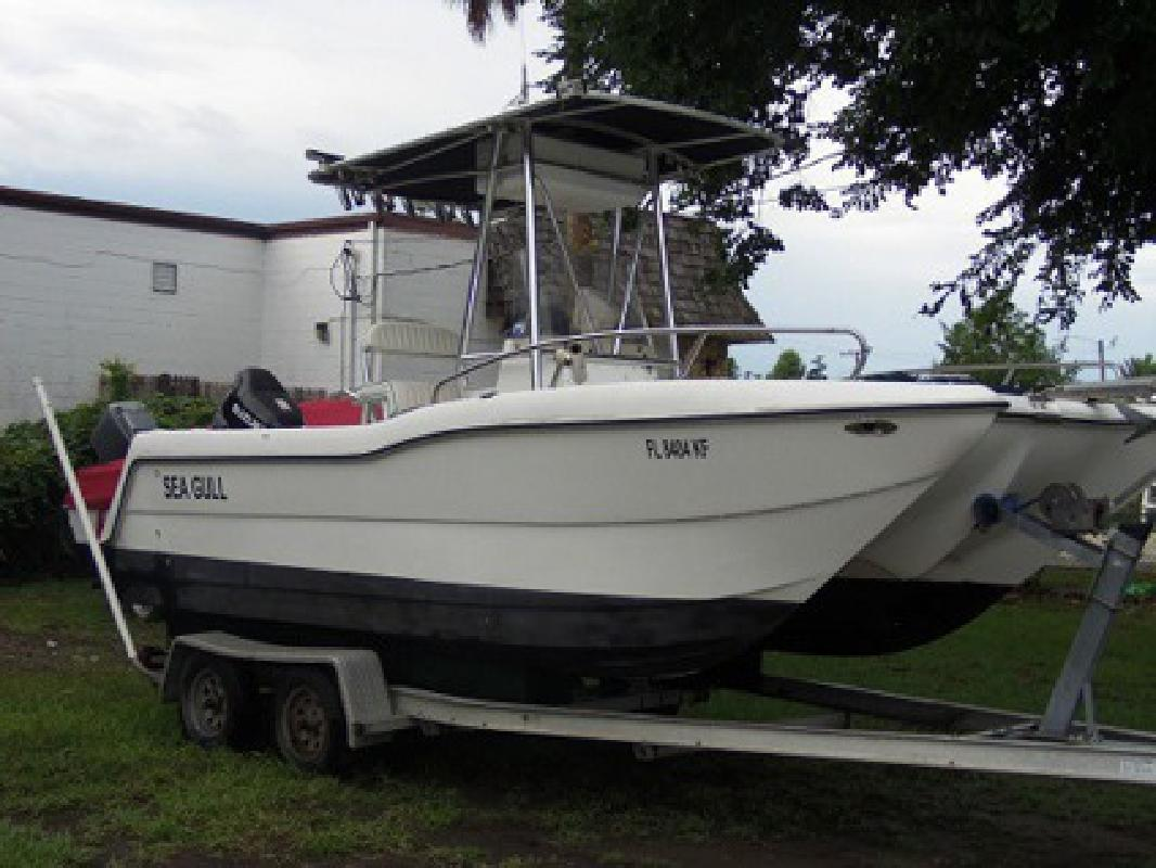 3 017 1999 sea gull center console fishing boat for sale for Fishing boats for sale in ohio
