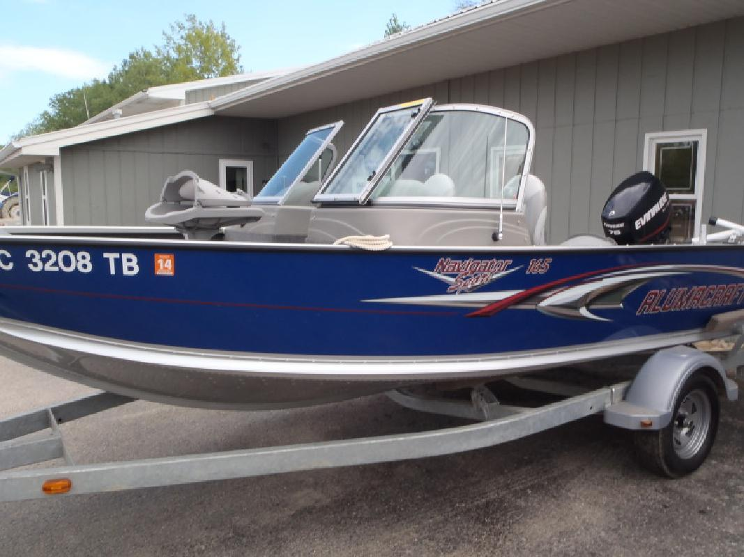 Alumacraft Boats Navigator 165 Sport Multi-Species Fishing Boat in Au Gres, MI