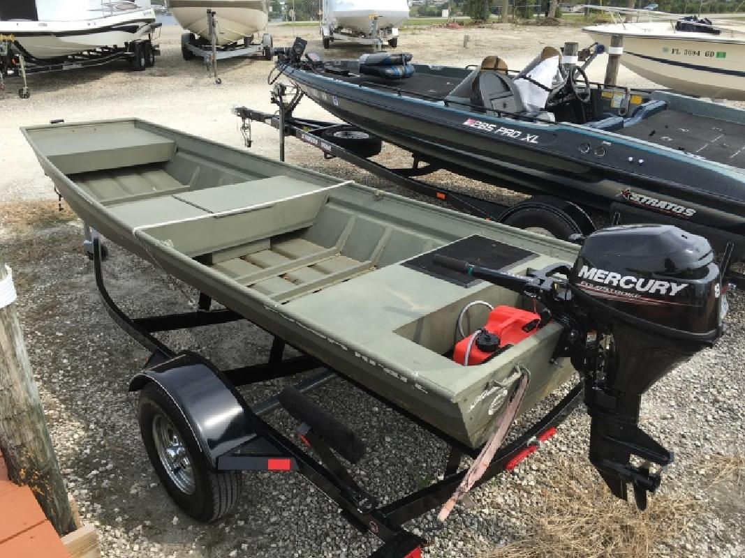 Jon boat new and used boats for sale in florida for Used aluminum fishing boats on craigslist