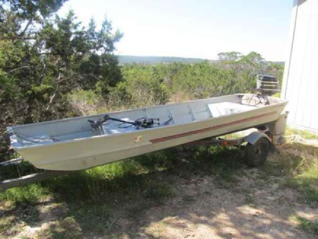 1 200 1987 14ft aluminum fishing boat leander for sale for Fishing boats for sale in texas