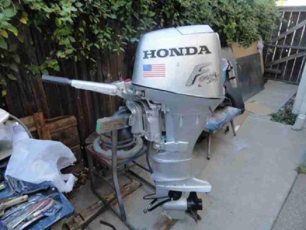 2006 30hp four stroke honda outboard motor sacramento for Used honda boat motors for sale