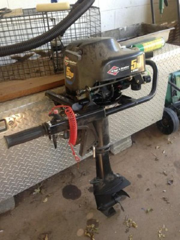 550 obo briggs and stratton 5 hp air cooled outboard for for Briggs and stratton outboard motors for sale