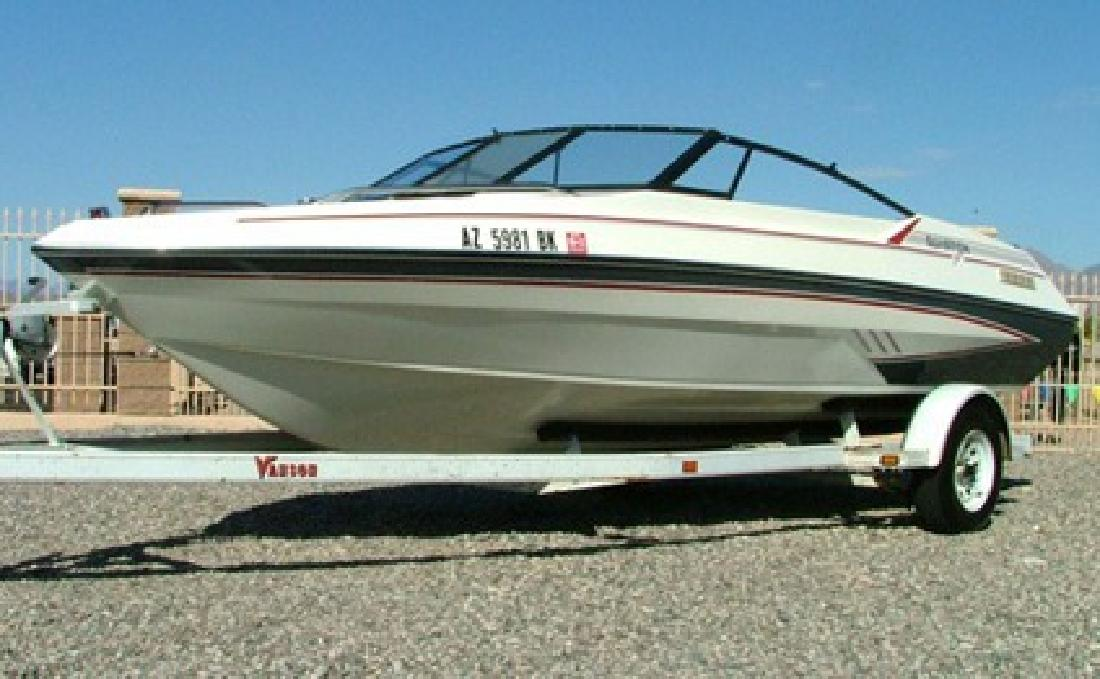 1990 Glastron Sierra 195 Boat And Trailer