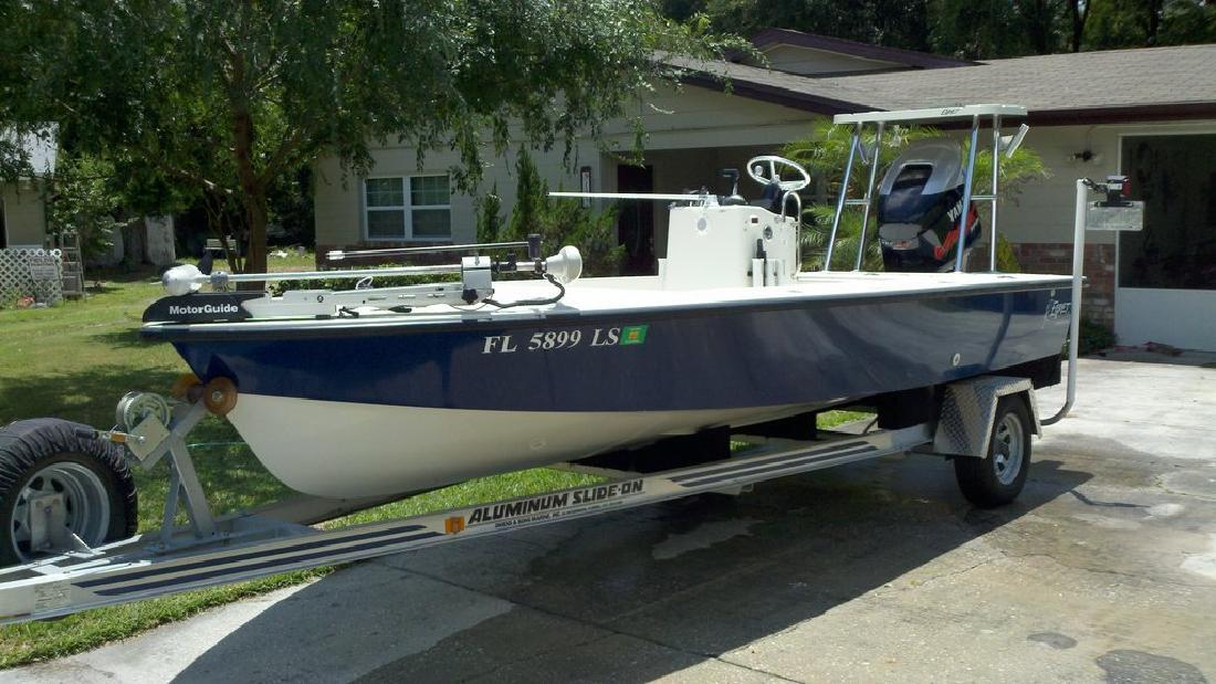 2002 18' Egret Boat Co. Inc. 18'9 Flats Boat