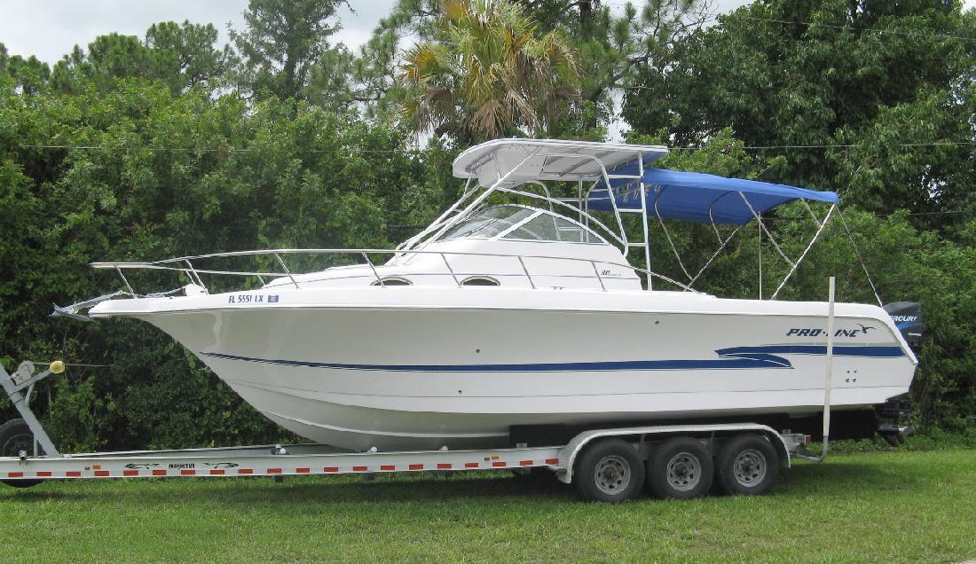 2002 30 Pro Line Boats Inc 30 Walkaround For Sale In