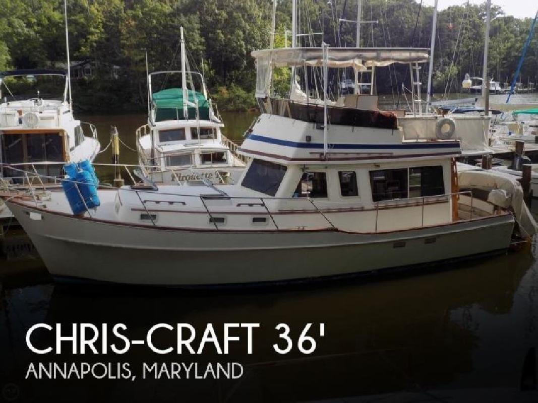 1983 Chris Craft 361 West Indian Trawler Annapolis MD