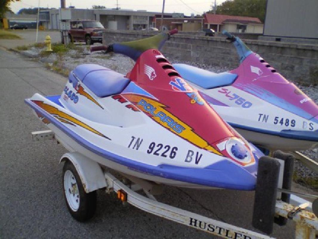 1995 (650cc) & 1997 (750cc) Polaris Jet skis w/ dbl Hustler