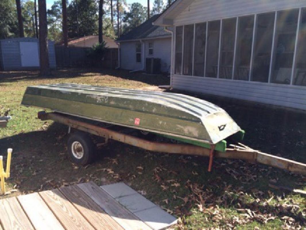 16ft Boat Trailer And 12 Ft Jon Boat 600 Lake