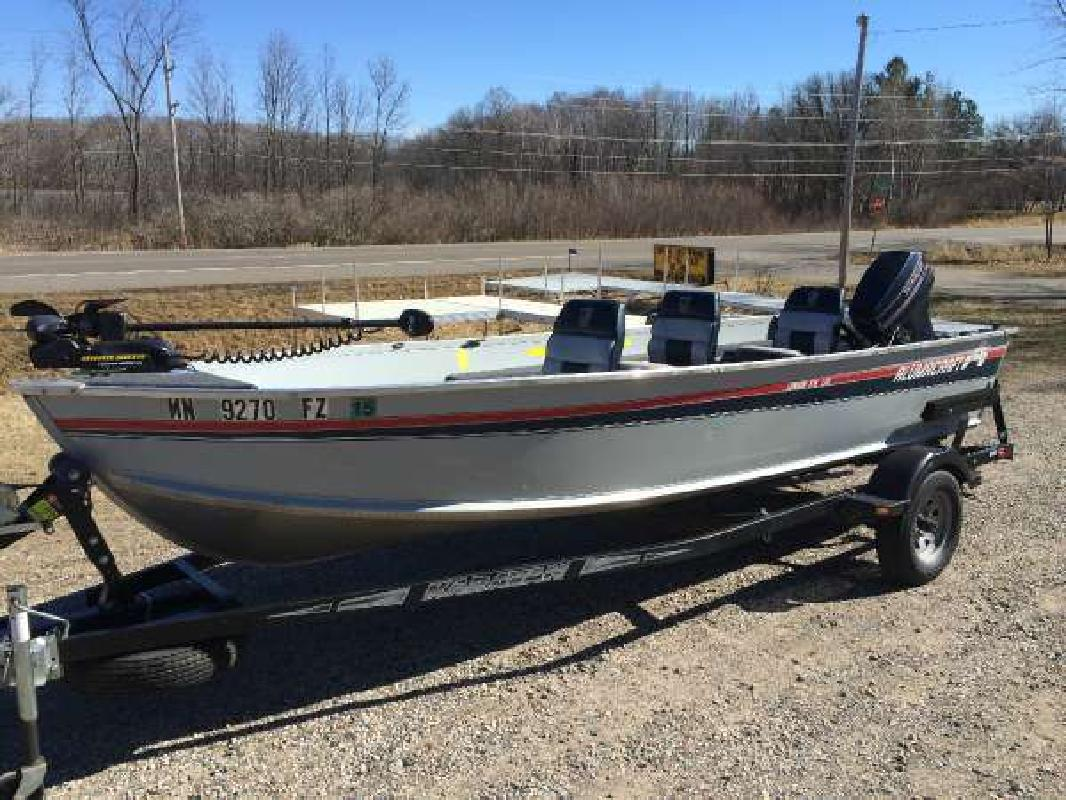 1992 alumacraft lunker v16 ltd deerwood mn for sale in for Fishing boats for sale mn