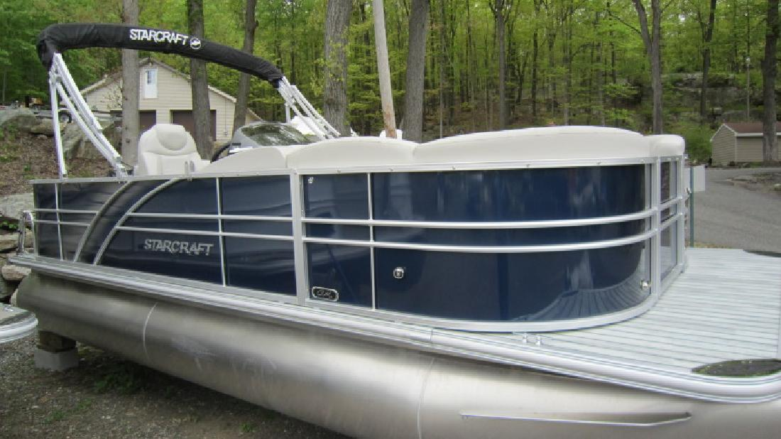 2016 Starcraft CX 21 C pontoon with 90hp Mercury 4 Stroke in Lake