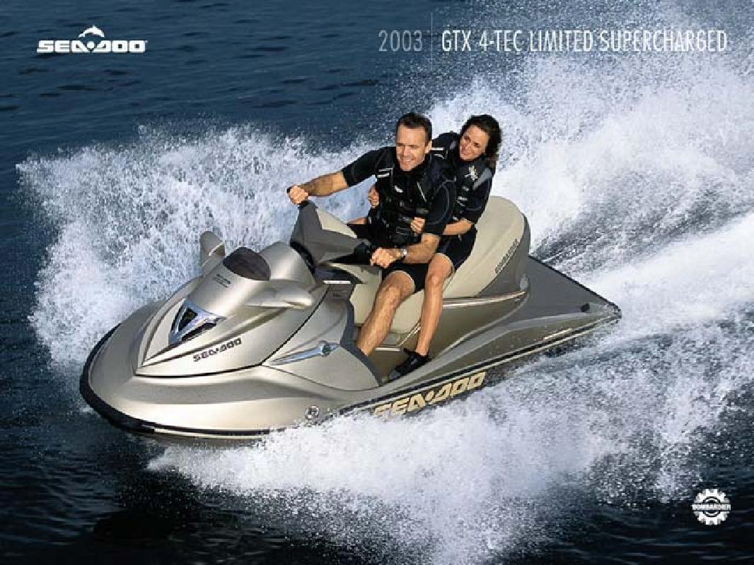 2003 11' Sea Doo Luxury Performance GTX 4-TEC™ Limited Superc