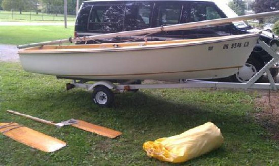 $650 Capri 14 ft sailboat with trailer for sale in North Ridgeville