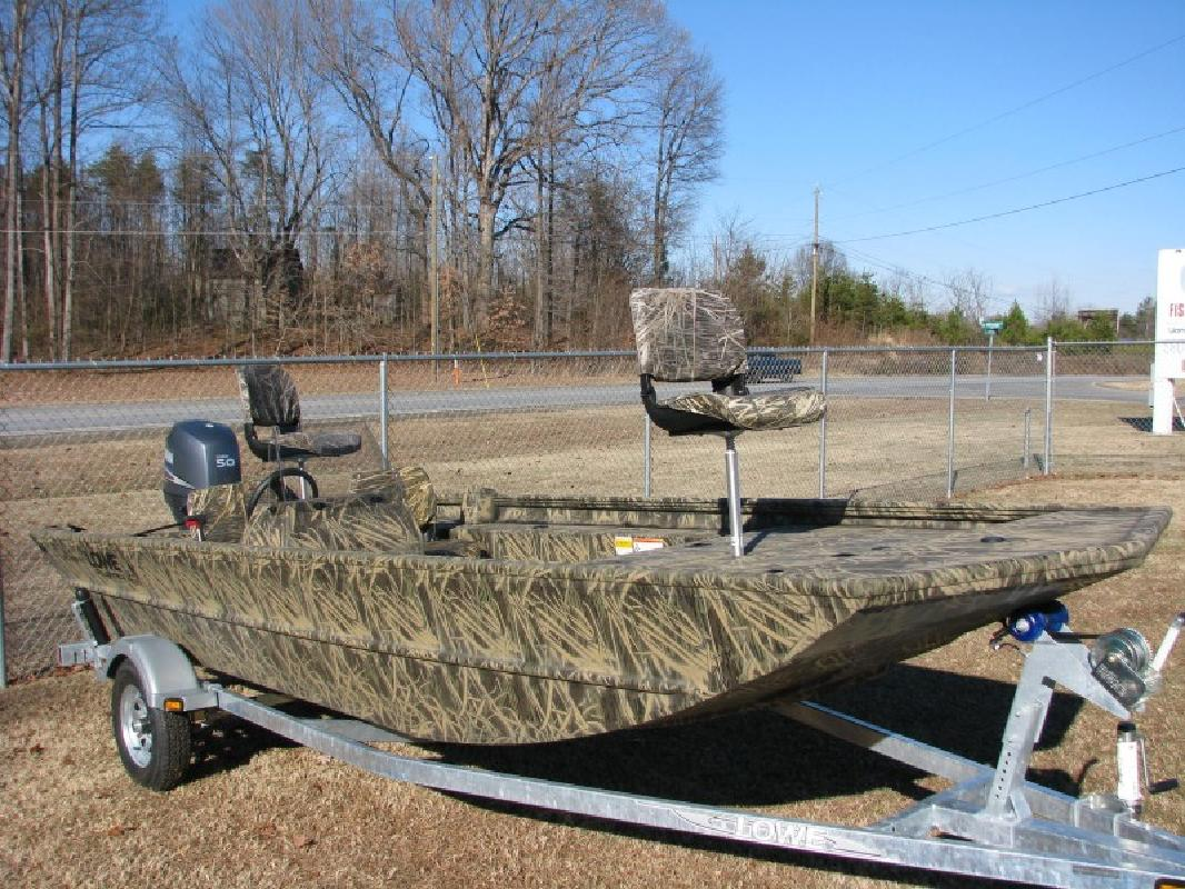 2011 17 Lowe Boats Roughneck 1760 Sc Camo With 50hp
