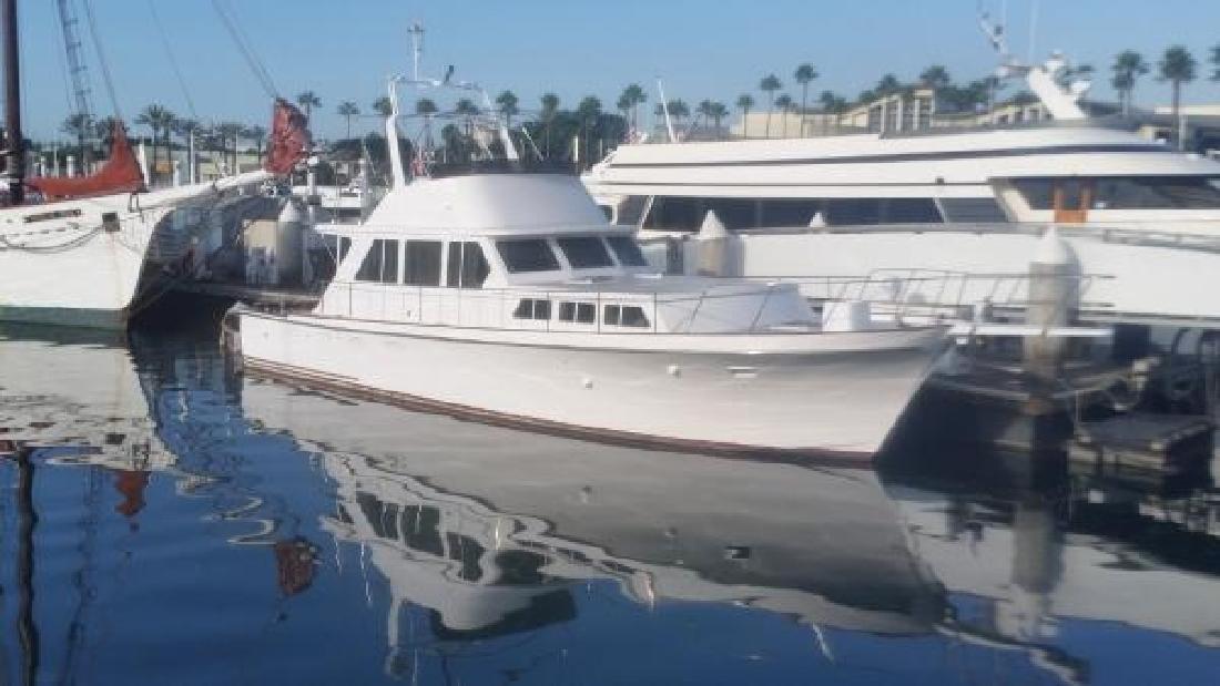 1979 Delta Boat Company Flybridge Sedan Long Beach CA