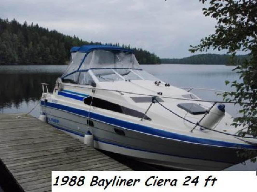$8,200 **NEW LOWER PRICE**1988 Bayliner New V-8 sleeps 5 No time to use