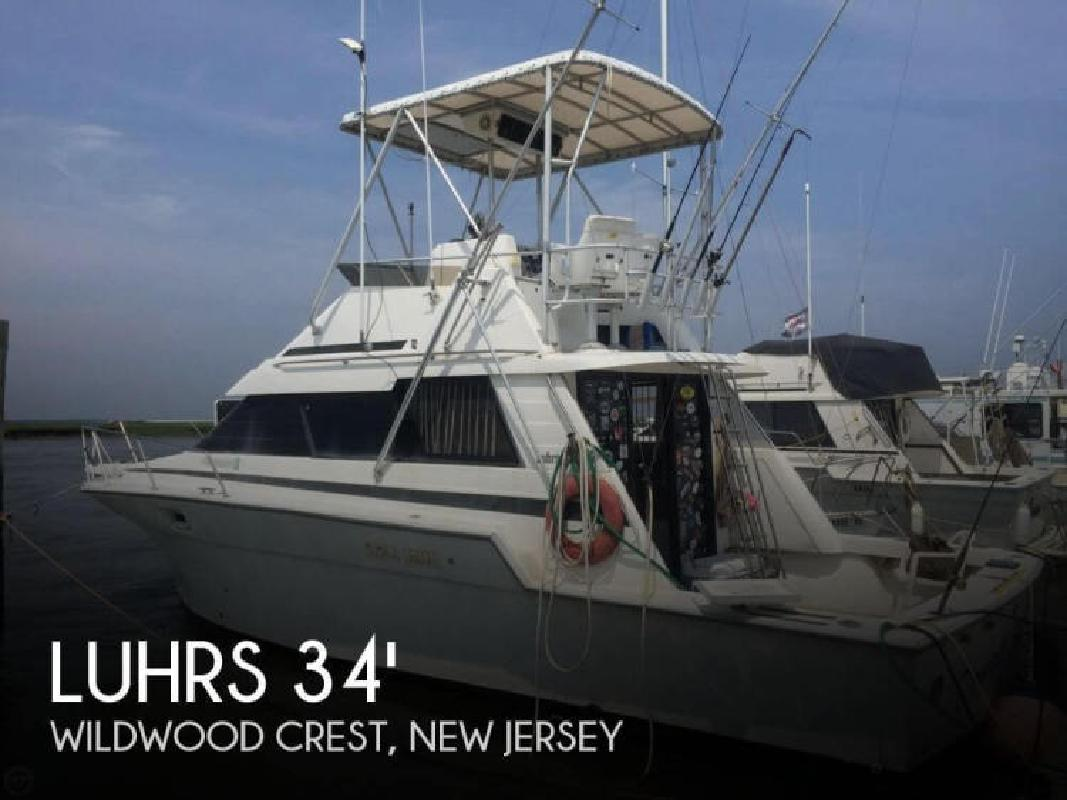 1988 luhrs boats 342 tournament sportfisherman wildwood for Fishing boats for sale nj