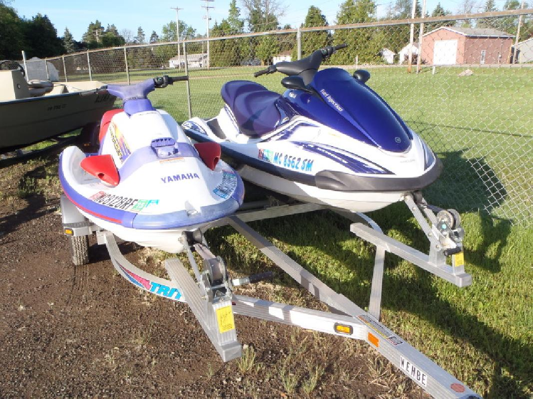 Pair of PWC by Yamaha with trailer in Au Gres, MI