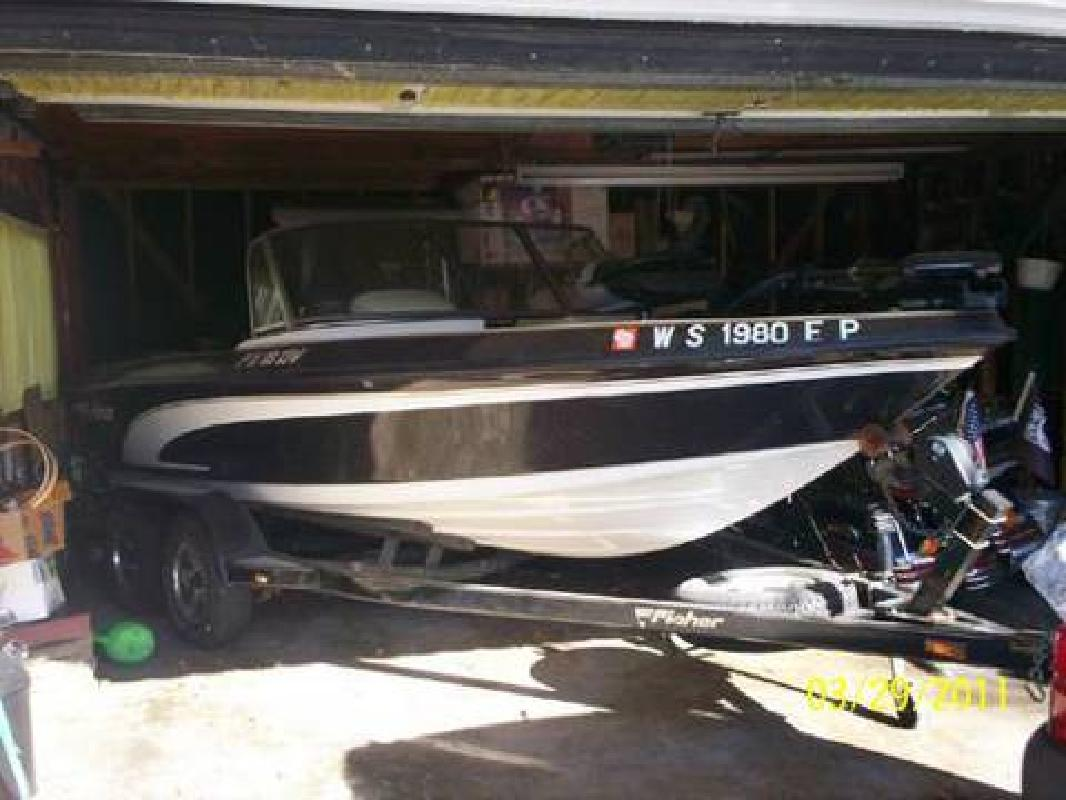 1999 fisher fxdv 18 walleye pro fishing boat for sale in for Walleye fishing boats for sale