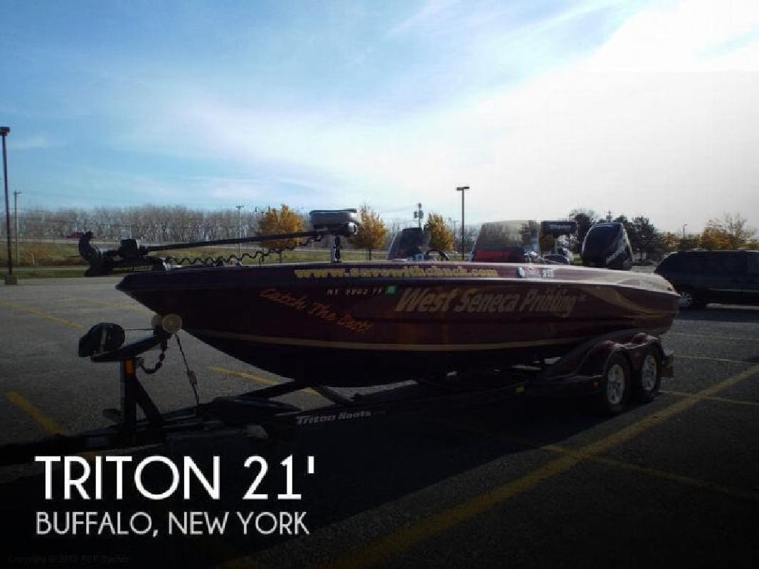 2008 triton tn 215x walleyebass boat buffalo ny for sale for Fishing boats ny