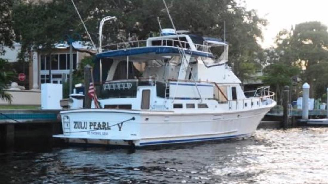 1986 offshore cockpit trawler yachtfish fort lauderdale fl for Fishing in fort lauderdale