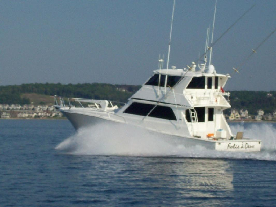 1997 58' Viking Yachts Enclosed Bridge