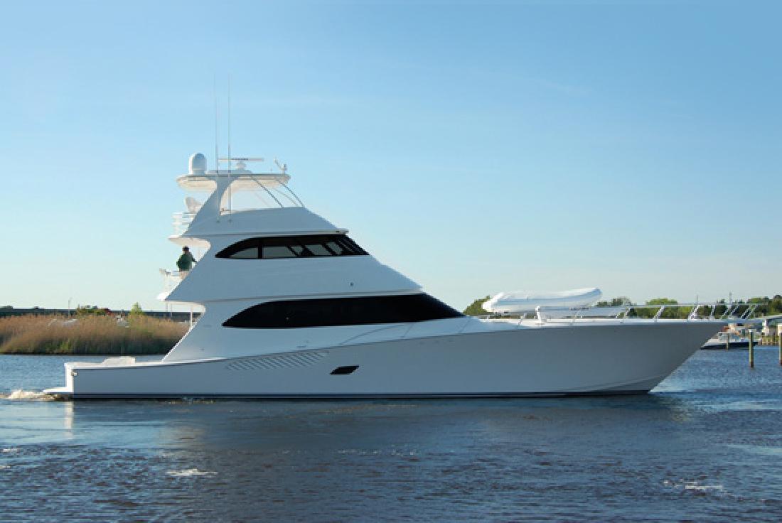 2012 82' Viking Yachts Enclosed Bridge