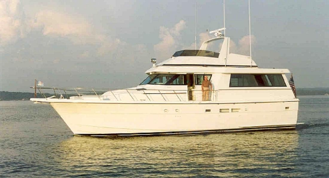 1989 54' Hatteras Yachts Extended Deckhouse